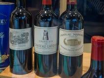 Mest bra röda viner för världs` s Royaltyfri Bild