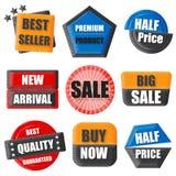 Mest bra säljare, högvärdig produkt, halvt pris, ny ankomst, försäljning, köp Royaltyfria Bilder