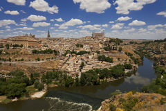 Mest bra sikt av staden av Toledo, Spanien Royaltyfria Bilder