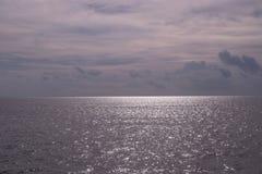 Mest bra sikt för havshorisont från färjan Royaltyfri Bild
