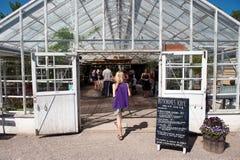 Mest bra ställe för att ha ett kaffe i Sverige Royaltyfria Bilder