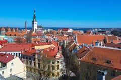 Mest bra ställen med oförglömliga sikter av Tallinn royaltyfri fotografi