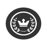 Mest bra symbol 1 för framgång för krans och för krona för utmärkelseetikettlager Arkivbilder