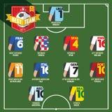 Mest bra Team Soccer av fotboll Arkivfoto