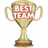 Mest bra Team Trophy Award Prize Recognition Royaltyfria Bilder
