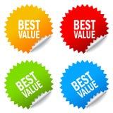 Mest bra värdeklistermärke stock illustrationer
