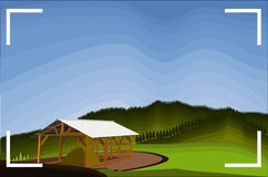 Mest fantastiska siktsfoto av den Teletubbies kullen bandung vektor illustrationer