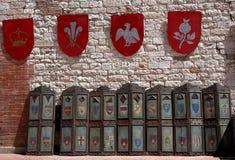 mest fest medeltida Arkivfoto