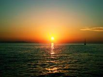 Mest härlig solnedgång Arkivfoto