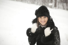 mest lycklig flicka Arkivbild