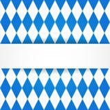 mest oktoberfest bakgrund Bayerskt flaggasmattrande Stock Illustrationer