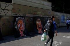 Mest populär gata av Brasilien i Sao Paulo huvudstad royaltyfri fotografi