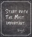 Mest viktigt Virgil citationstecken arkivbild