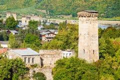 Mestia en Georgia Imagenes de archivo
