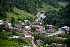Mestia, Georgia. Mestia — the settlement of city type in the Upper Svaneti Royalty Free Stock Image