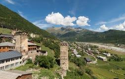 Mestia, província de Svaneti, Geórgia imagens de stock royalty free