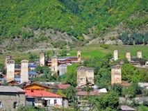 Mestia, Svaneti Γεωργία στοκ εικόνες