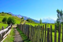 Mestia, Svaneti la Géorgie Image stock