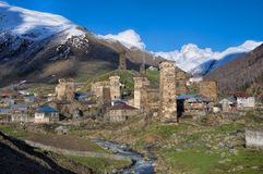 From Mestia to Ushguli Royalty Free Stock Image