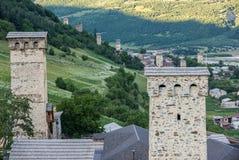 Mestia town Stock Image