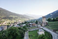 Mestia town Royalty Free Stock Photo
