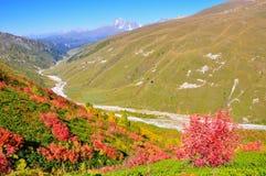 Mestia-Ushguli trek, Svaneti Georgië Stock Foto's