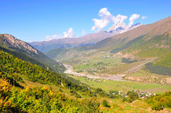 Mestia-Ushguli trek, Svaneti Georgia Royalty Free Stock Photography
