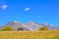 Mestia-Ushguli trek, Svaneti Georgia. Views from the trek from Mestia to Ushguli, Svaneti region, Georgia Stock Photo