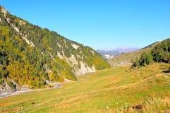 Mestia-Ushguli trek, Svaneti Georgia Arkivbild