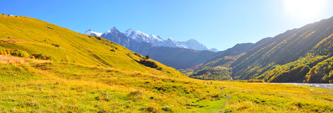Mestia-Ushguli trek, Svaneti Georgia Stock Photos