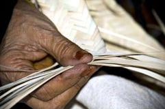Mestiere arabo dell'anziana Immagine Stock