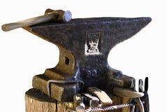 Mestiere del fabbro dell'incudine fotografie stock libere da diritti