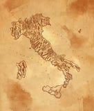 Mestiere dell'annata dell'Italia della mappa illustrazione vettoriale