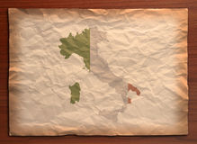 Mestiere di carta dell'Italia dell'annata immagine stock libera da diritti