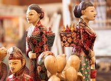 Mestiere di legno della statua fatto dalla decorazione di legno del ricordo che scolpisce il prodotto dell'oggetto Immagini Stock