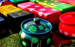 Mestieri di ceramica colorati Fotografia Stock Libera da Diritti