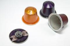Mestieri di DIY fatti con le capsule del caffè espresso Immagini Stock Libere da Diritti