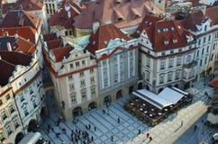 mesto stary Prague kwadrata gapienia miasteczko Zdjęcie Stock