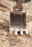 Mestolo dell'escavatore a cucchiaia rovescia Immagini Stock