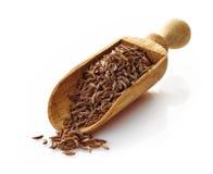 Mestolo di legno con cumino immagine stock libera da diritti
