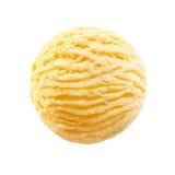 Mestolo isolato di gelato alla vaniglia Fotografia Stock