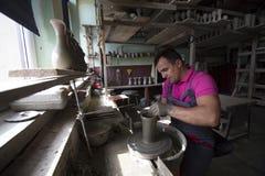Mestre dos oleiro fotografia de stock