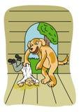 Mestre e animal de estimação ilustração do vetor