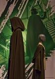 Mestre e Padawan de Jedi da exibição de Starwars Fotografia de Stock Royalty Free