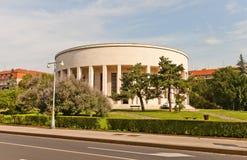 Mestrovic Pavilion (1938) en Zagreb, Croacia foto de archivo libre de regalías