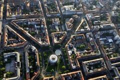 Mestrovic Pavillion, Загреб, от воздуха Стоковые Фотографии RF