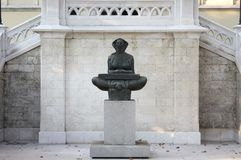 Mestrovic's sculpture. Croatian sculptor's one of the most famous sculpture Povijest Hrvata. It is placed in Zagreb, in front of Univesity of Zagreb and Faculty Royalty Free Stock Photos