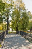 Mestsky or City park in Kosice old town, Slovakia. Royalty Free Stock Images