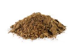 Meststof van het grond de Organische compost voor aanplanting stock foto's