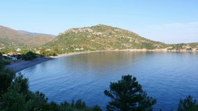 mesudiye landscape view, datca, turkey stock footage